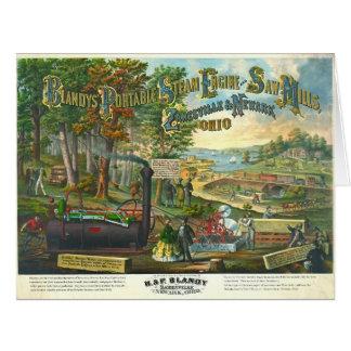 Vintage Equipment Ad 1867 Big Greeting Card