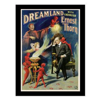 Vintage Ernest Thorn Magician Poster Postcard