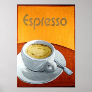 Vintage Espresso Coffee Poster