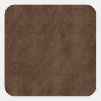 Vintage Espresso Dark Brown Parchment Antique Square Sticker