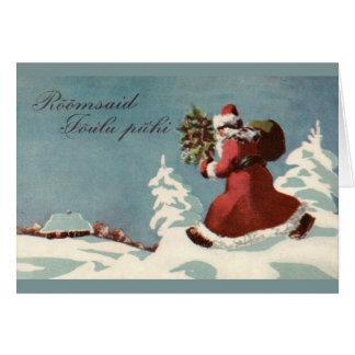 Vintage Estonian Christmas Greeting Card