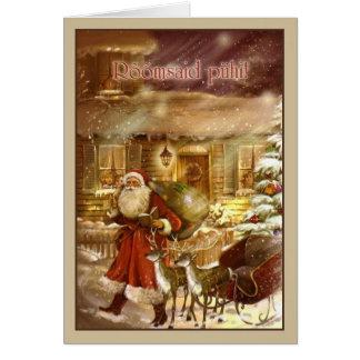 Vintage Estonian Rõõmsaid Pühi Christmas Card