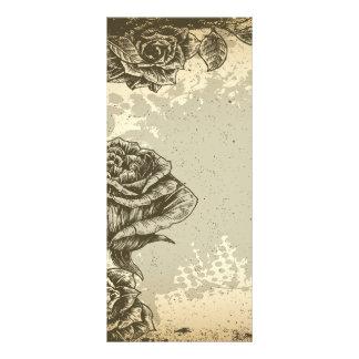 vintage etched roses design custom rack card