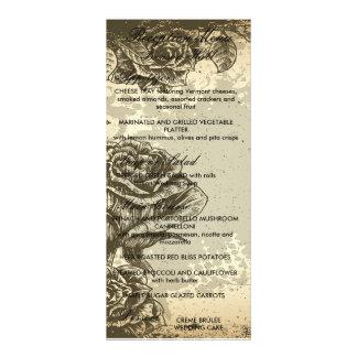 vintage etched roses design rack card template