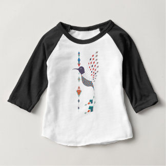 Vintage ethnic tribal aztec bird baby T-Shirt