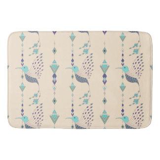 Vintage ethnic tribal aztec bird bath mat