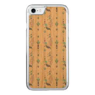 Vintage ethnic tribal aztec bird carved iPhone 8/7 case