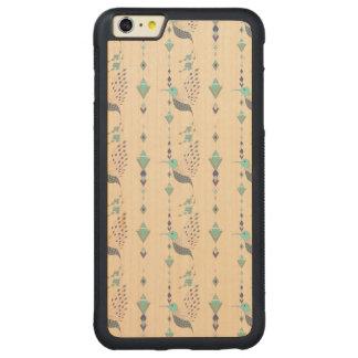 Vintage ethnic tribal aztec bird carved maple iPhone 6 plus bumper case