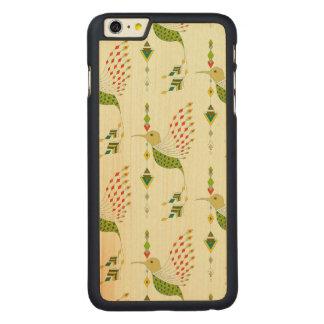 Vintage ethnic tribal aztec bird carved maple iPhone 6 plus case