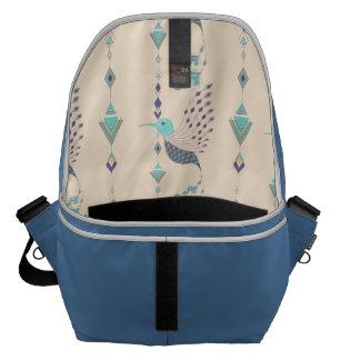 Vintage ethnic tribal aztec bird commuter bag