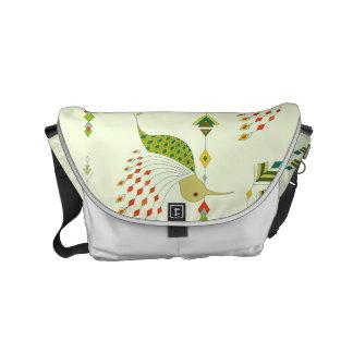 Vintage ethnic tribal aztec bird courier bags