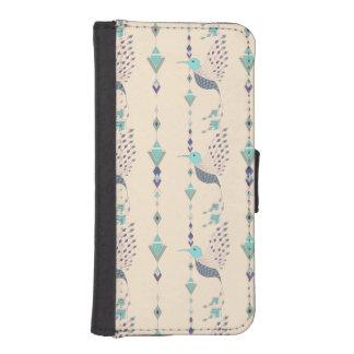 Vintage ethnic tribal aztec bird iPhone SE/5/5s wallet case