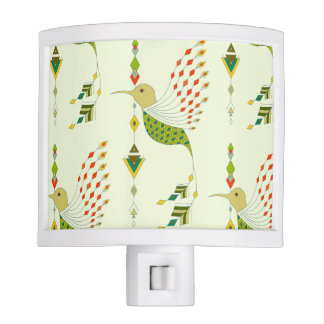 Vintage ethnic tribal aztec bird night light