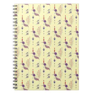 Vintage ethnic tribal aztec bird notebook