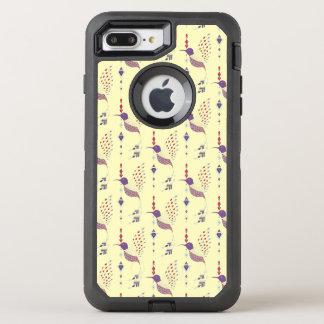 Vintage ethnic tribal aztec bird OtterBox defender iPhone 8 plus/7 plus case