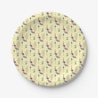 Vintage ethnic tribal aztec bird paper plate