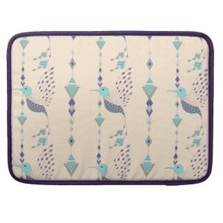 Vintage ethnic tribal aztec bird sleeve for MacBook pro