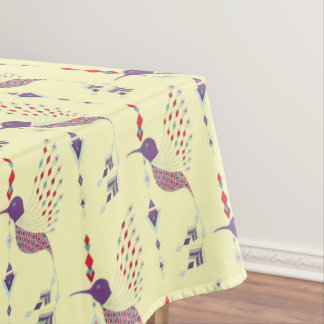 Vintage ethnic tribal aztec bird tablecloth