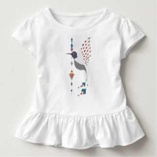 Vintage ethnic tribal aztec bird toddler t-shirt