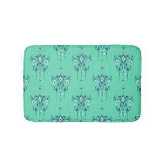 Vintage ethnic tribal aztec ornament bath mat