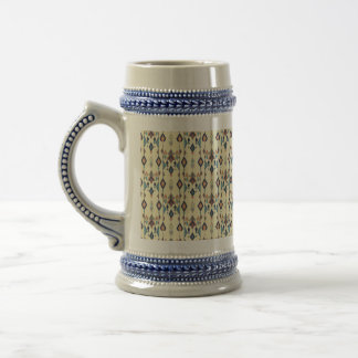 Vintage ethnic tribal aztec ornament beer stein