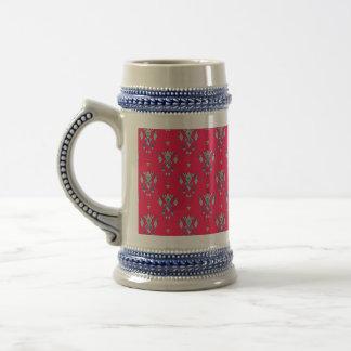Vintage ethnic tribal aztec ornament beer stein