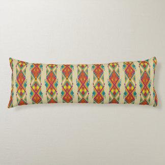 Vintage ethnic tribal aztec ornament body pillow