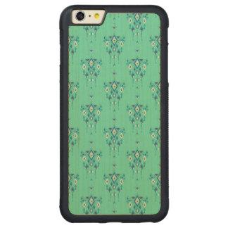 Vintage ethnic tribal aztec ornament carved maple iPhone 6 plus bumper case