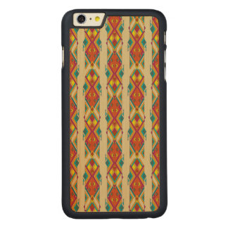 Vintage ethnic tribal aztec ornament carved maple iPhone 6 plus case