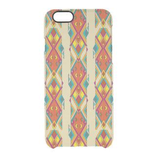 Vintage ethnic tribal aztec ornament clear iPhone 6/6S case
