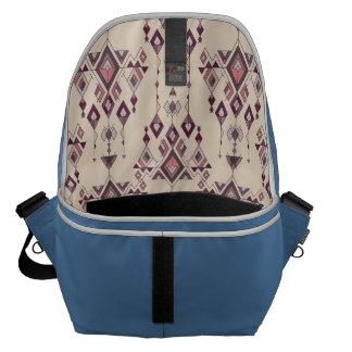 Vintage ethnic tribal aztec ornament courier bag