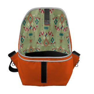Vintage ethnic tribal aztec ornament courier bags