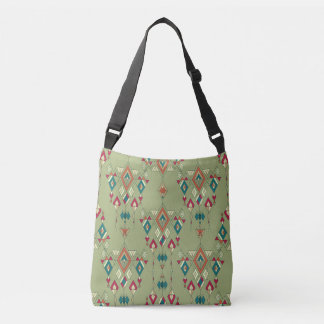 Vintage ethnic tribal aztec ornament crossbody bag