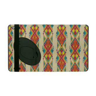 Vintage ethnic tribal aztec ornament iPad folio case