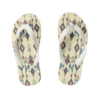 Vintage ethnic tribal aztec ornament kid's flip flops