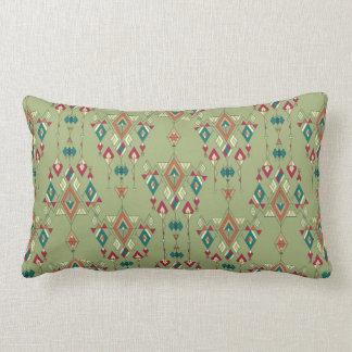 Vintage ethnic tribal aztec ornament lumbar pillow