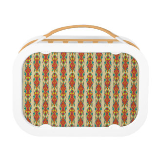Vintage ethnic tribal aztec ornament lunch box