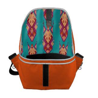 Vintage ethnic tribal aztec ornament messenger bags