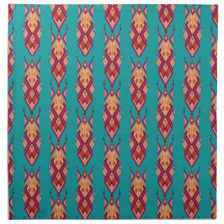 Vintage ethnic tribal aztec ornament napkin