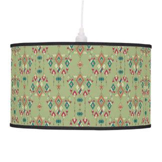Vintage ethnic tribal aztec ornament pendant lamp