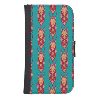 Vintage ethnic tribal aztec ornament samsung s4 wallet case