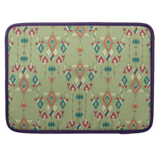 Vintage ethnic tribal aztec ornament sleeve for MacBook pro
