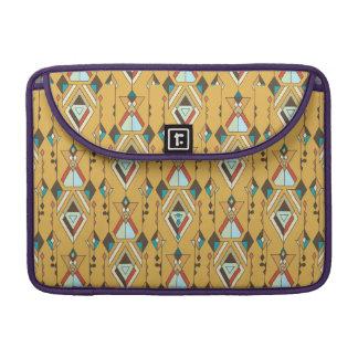 Vintage ethnic tribal aztec ornament sleeve for MacBooks