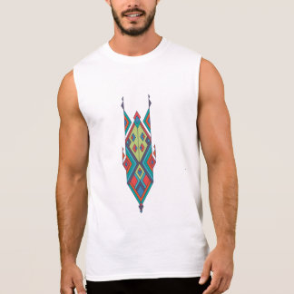 Vintage ethnic tribal aztec ornament sleeveless shirt