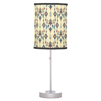 Vintage ethnic tribal aztec ornament table lamp