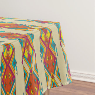 Vintage ethnic tribal aztec ornament tablecloth