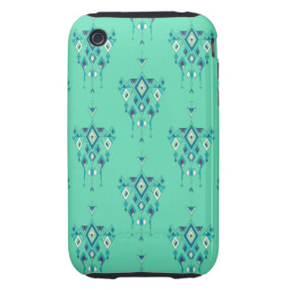 Vintage ethnic tribal aztec ornament tough iPhone 3 case
