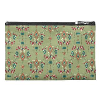 Vintage ethnic tribal aztec ornament travel accessories bag