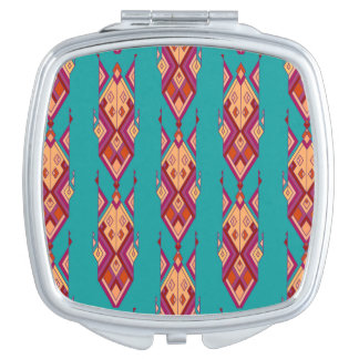 Vintage ethnic tribal aztec ornament travel mirrors