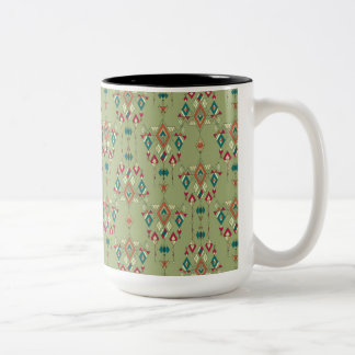 Vintage ethnic tribal aztec ornament Two-Tone coffee mug